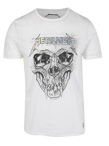 Biele tričko s potlačou Jack & Jones Rock Music Metallica