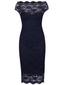 Tmavomodré puzdrové čipkované šaty ZOOT