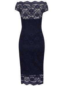 Tmavě modré pouzdrové krajkové šaty ZOOT