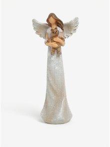 Soška anděla s medvídkem Dakls