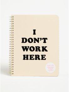 Krémový zápisník s potiskem ban.do I don't work here