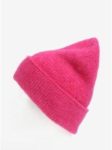 Caciula roz din amestec de lana Pieces Josefine