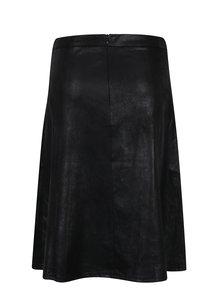 Čierna koženková sukňa Yest