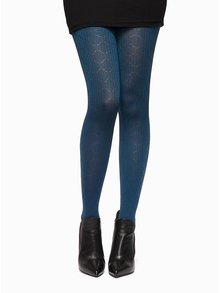 Tmavě modré žebrované punčochové kalhoty Oroblu Nora 60 DEN