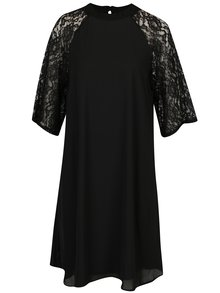 Čierne dámske šaty s čipkovaným rukávom Broadway Sarita