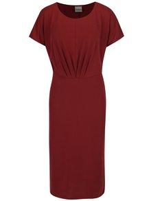 Vínové šaty s krátkým rukávem Selected Femme Sinda