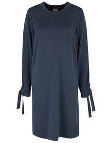 Modré šaty s dlouhým rukávem Selected Femme Tea