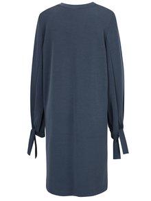Modré šaty s dlhým rukávom Selected Femme Tea