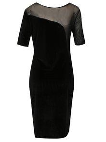 Čierne zamatové šaty s priesvitnou časťou Broadway Shae