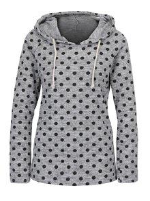 Šedý lehký puntíkovaný svetr s kapucí Haily´s Stara II.