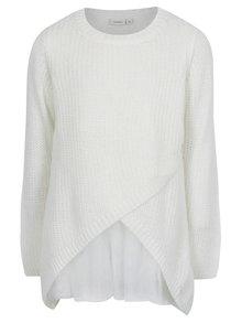Krémový dievčenský prekladaný sveter name it Imdia