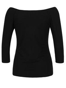 Bluza neagra cu maneci 3/4 si decolteu amplu - Haily's Racheline