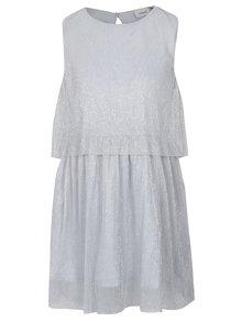 Šedé holčičí třpytivé plisované šaty name it Idora