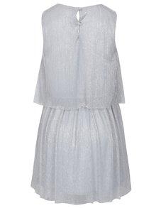 Sivé dievčenské trblietavé plisované šaty name it Idora