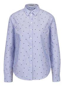 Modrá pruhovaná košeľa s potlačou hviezd Haily's Julya