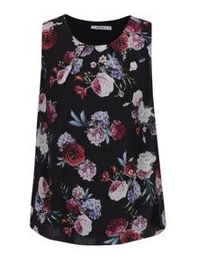 Top negru lejer cu print floral -  Haily´s Lavina