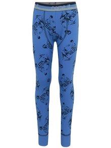 Modré chlapčenské vzorované podvliekacie nohavice Name it Varnyva