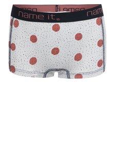 Krémové dievčenské vzorované nohavičky name it Vionava