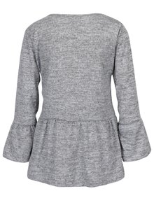 Sivé melírované tričko s dlhým rukávom Haily's Svea