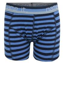 Modré chlapčenské pruhované boxerky name it Vionava
