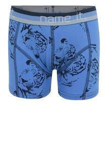 Modré chlapčenské vzorované boxerky name it Vionava