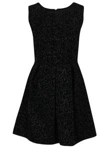Rochie neagra cu flori stilizate -  Haily's Milena