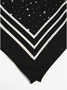 Čierna vzorovaná šatka s pruhmi Pieces Rachel