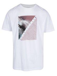 Biele pánske regular fit tričko s potlačou Quiksilver Tees