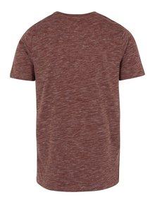 Vínové žíhané tričko Selected Homme Richard