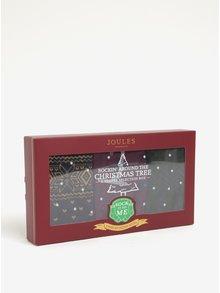 Vánoční sada tří párů dámských ponožek v dárkové krabičce Tom Joule Xmas