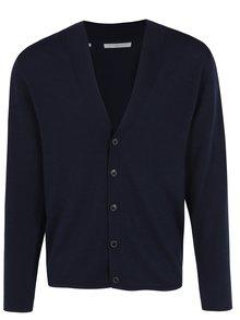 Cardigan bleumarin din amestec de lana Selected Homme Ed