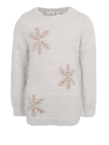 Krémový dievčenský sveter s vločkami name it Irna