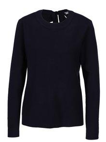 Tmavě modrý svetr s mašlí na zádech VILA Olivina