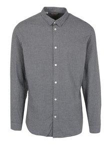 Šedá kostkovaná slim fit košile Selected Homme One Paw