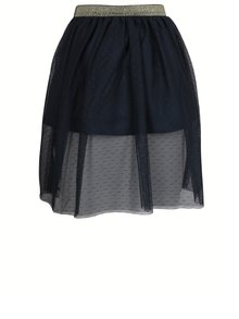 Modrá dievčenská tylová sukňa s nášivkami name it Sharin