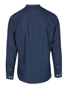 Tmavě modrá vzorovaná slim fit košile Selected Homme One Robert
