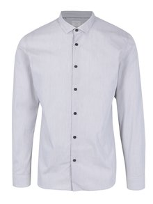 Camasa gri deschis in dungi Selected Homme One Smart