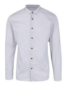 Světle šedá vzorovaná slim fit košile Selected Homme One Smart