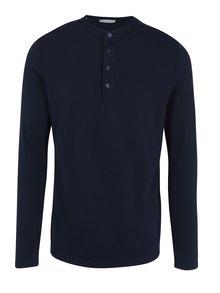 Tmavě modré polo tričko s dlouhým rukávem Selected Homme Edan