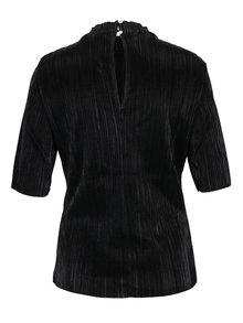 Bluza neagra cu pliseuri fine - VILA Silvi