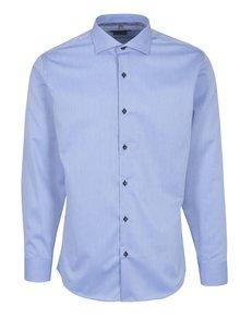 Modrá pánská formální košile s modrými knoflíky Seven Seas
