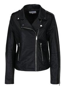 Jacheta biker neagra din piele sintetica  VILA Cara