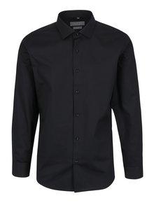 Čierna pánska formálna košeľa Seven Seas