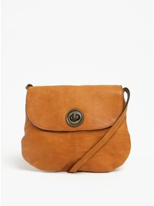 Geanta crossbody maro din piele - Pieces Totally Royal