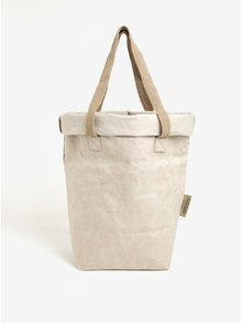 Geanta shopper bej ecologica UASHMAMA® Carry Two