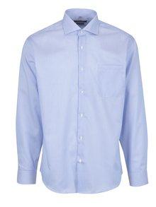 Bielo-modrá pánska pruhovaná formálna košeľa Seven Seas
