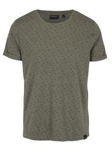 Khaki pánské tričko s krátkým rukávem Broadway Rami