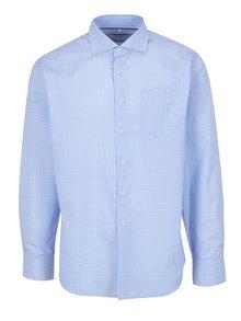 Bílo-modrá pánská kostkovaná formální košile Seven Seas