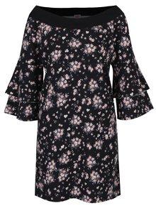 Černé mikinové šaty s volány na rukávech Juicy Couture
