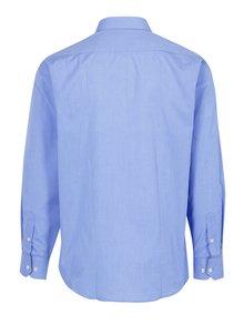 Modrá pánská formální košile s bílými knoflíky Seven Seas